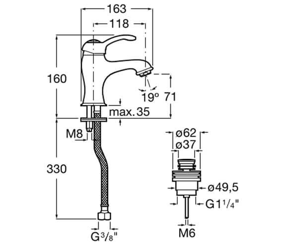 Technical drawing QS-V99827 / 5A314BC00