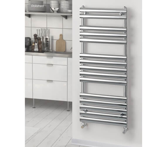 MHS Rads 2 Rails Oval 500mm Wide Heated Towel Rail - Central Heating - Dual Fuel - Electric