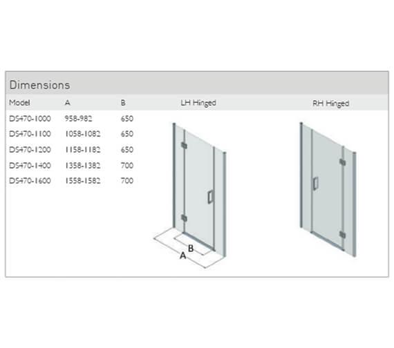 Technical drawing QS-V90782 / DS470-1000LHH
