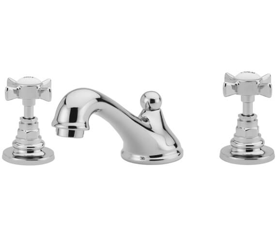 Tre Mercati Imperial 3 Hole Basin Mixer Tap With Pop Up Waste