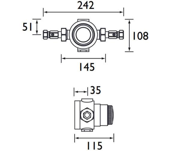 Technical drawing QS-V26172 / TS4753ECP