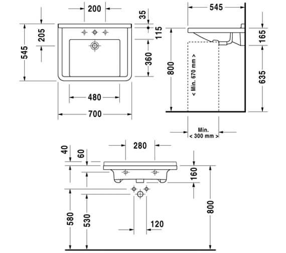 Technical drawing QS-V49560 / 0309600000