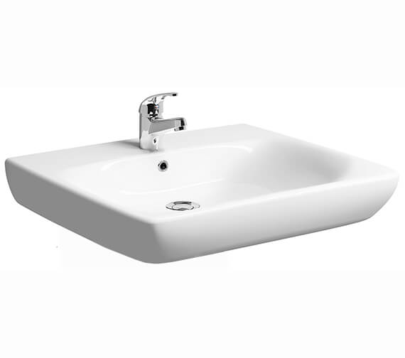 Twyford E100 Square Less-Abled Washbasin 650 x 550mm