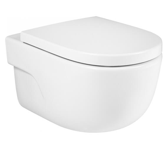Roca Meridian-N Vitreous China Wall-Hung Rimless WC With Horizontal Outlet