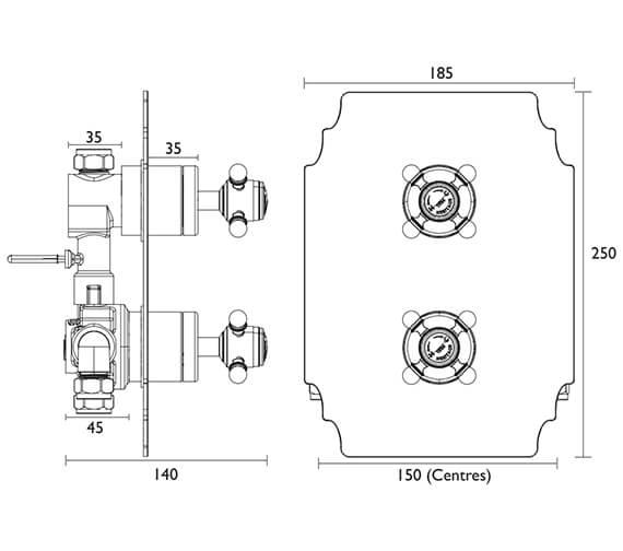Technical drawing QS-V82401 / SHDC02