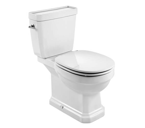 Roca Carmen Close Coupled Rimless Toilet Pan With Cistern And Soft Close Seat