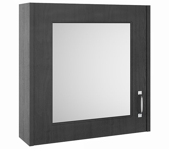 Additional image of Nuie York 1 Door Traditional Mirror Cabinet