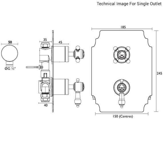 Technical drawing QS-V84155 / SGC03