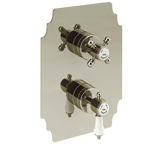 Additional image of Heritage Glastonbury Recessed Chrome Thermostatic Shower Valve With 1 Outlet