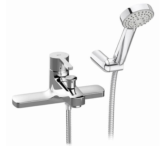 Roca Naia Deck-Mounted Bath-Shower Mixer Tap With Shower Kit
