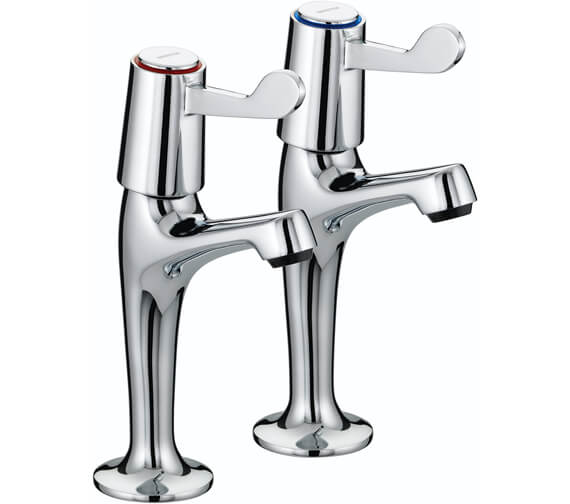 Bristan Value Lever High Neck Pillar Taps