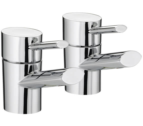 Bristan Oval Deck Mounted Bath Taps Pair