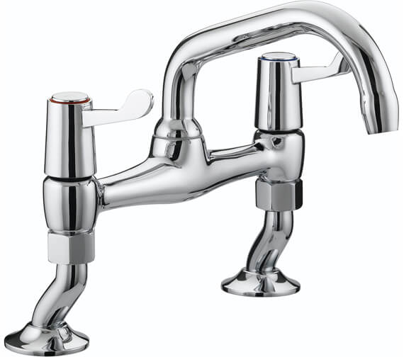 Bristan Value Lever Pillar Bridge Kitchen Sink Mixer Tap