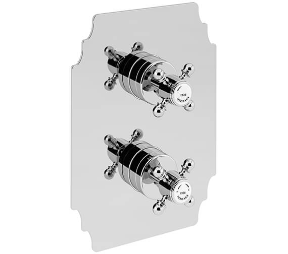 Heritage Hartlebury Recessed Thermostatic Chrome Shower Valve With 1 Outlet