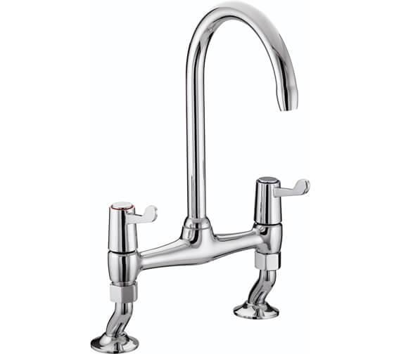 Bristan Value Lever Bridge Kitchen Sink Mixer Tap