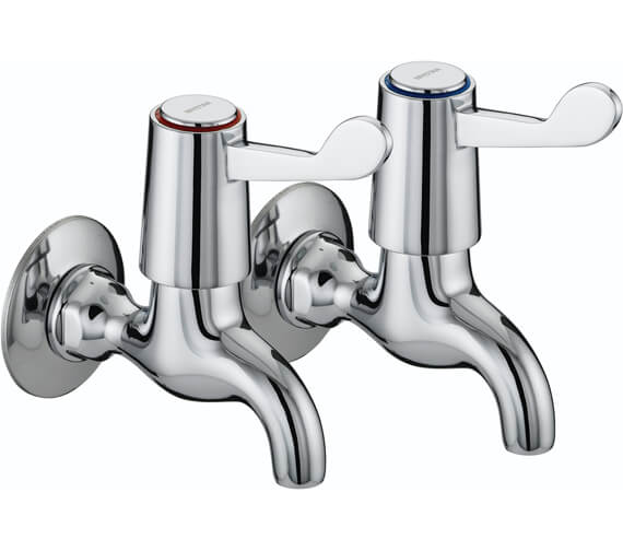 Bristan Value Lever Wall Mounted Bib Taps