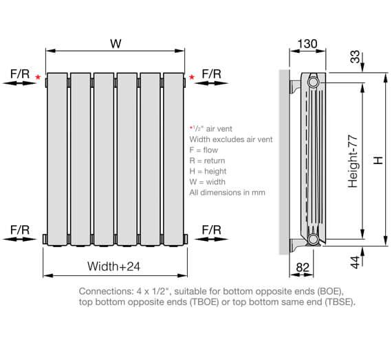 Technical drawing QS-V102660 / BS350/100-6