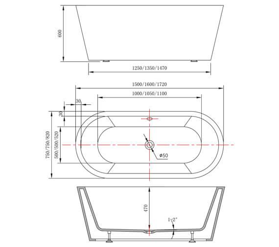 Technical drawing QS-V87373 / RT016