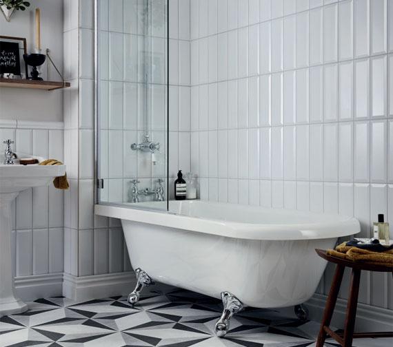 Additional image of Heritage Tilbury 1680 x 720mm Corner Freestanding Acrylic Bath