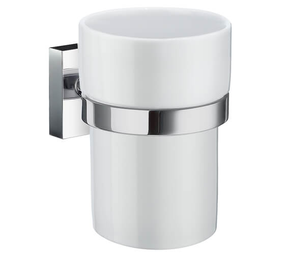Smedbo House Holder With Porcelain Tumbler
