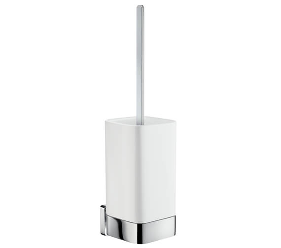 Smedbo Ice 370mm Height Toilet Brush With Container