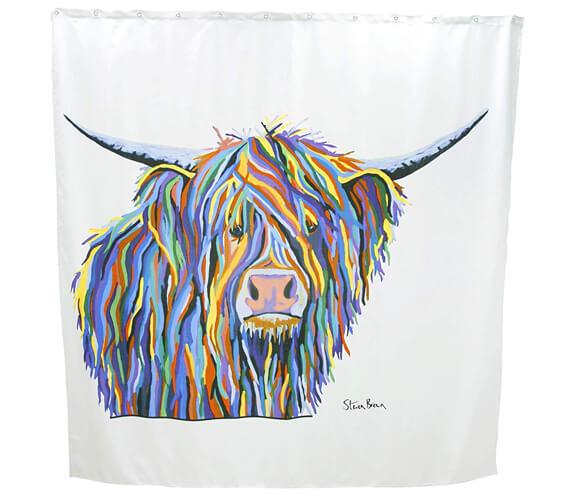 Croydex Angus McCoo Art By Steven Brown Shower Curtain
