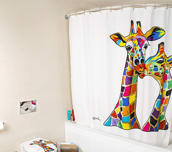 Croydex Francie & Josie McZoo Art By Steven Brown Shower Curtain