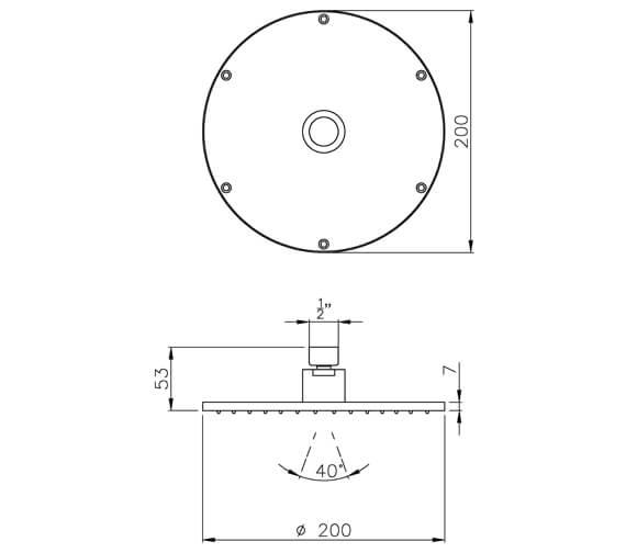 Technical drawing QS-V25320 / AB2442