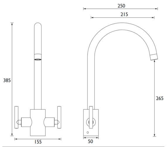 Technical drawing QS-V6869 / AR SNK EF C