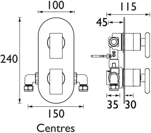 Technical drawing QS-V102498 / PIV2 SHCVO C