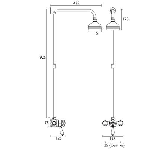 Technical drawing QS-V72736 / SLCDUALMIN01
