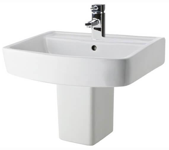 Nuie Bliss 520mm Square 1 Tap Hole Basin