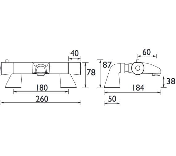 Technical drawing QS-V52188 / AR2 THBF C