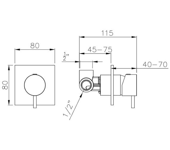 Technical drawing QS-V8583 / AB4174