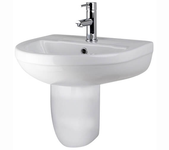 Nuie Harmony 500mm 1 Tap Hole Basin With Full Pedestal