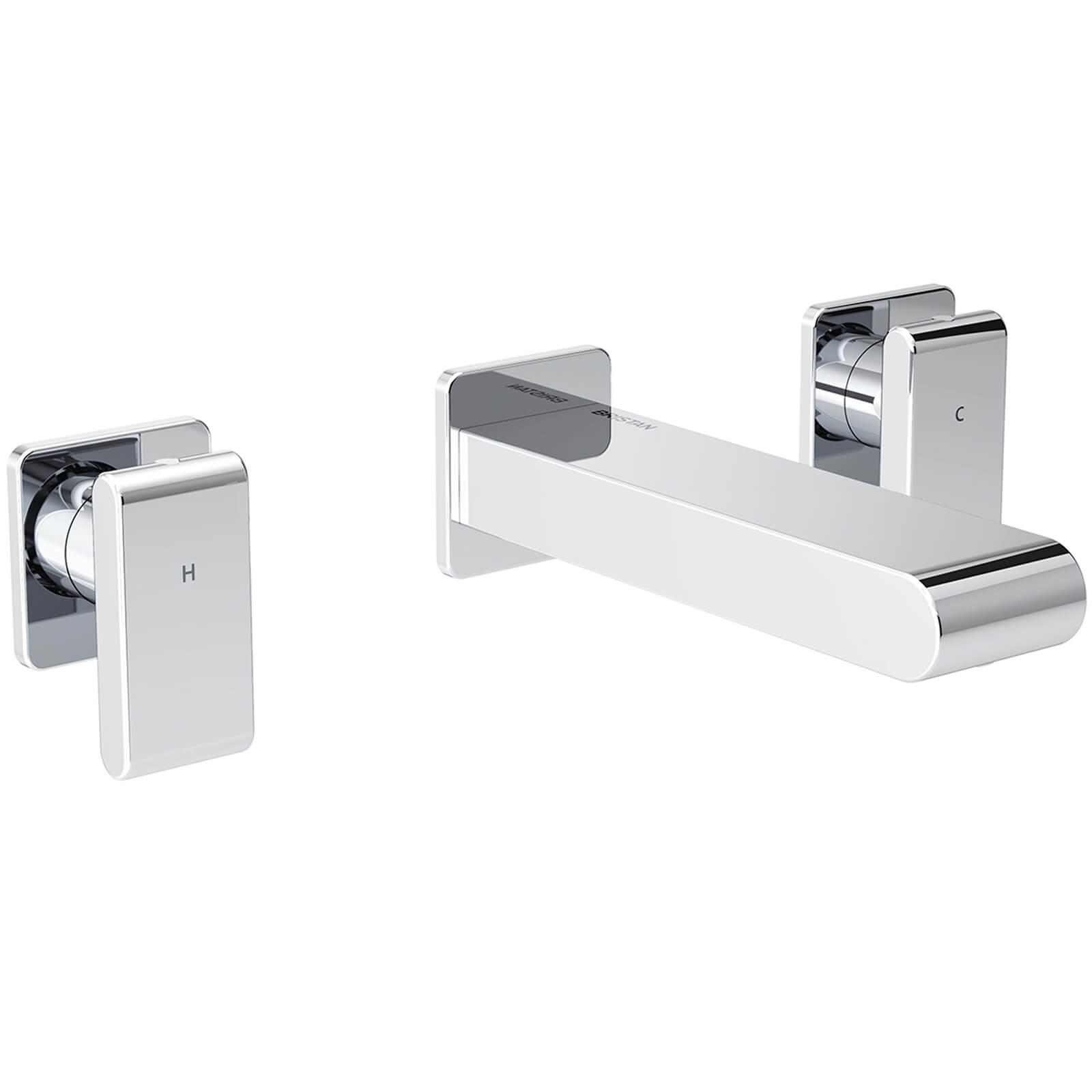 Bristan Pivot 3 Hole Wall Mounted Basin Mixer Tap