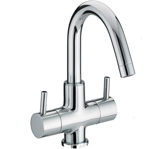 Bristan Prism 2 Handle Basin Mixer Tap With Swivel Spout