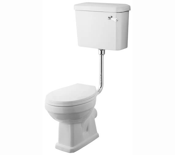 Nuie Carlton Low Level Pan And Cistern With Flush Pipe Kit