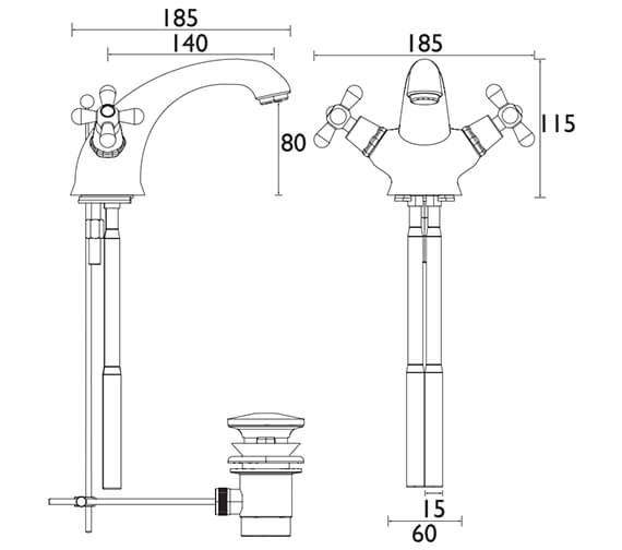 Technical drawing QS-V53302 / TRHC04