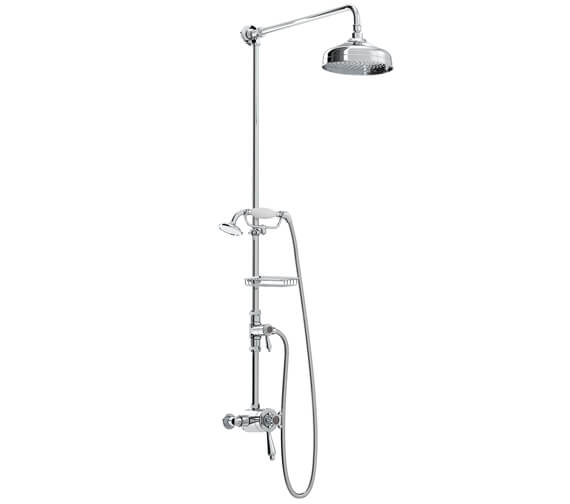 Bristan Trinity Thermostatic Exposed Dual Control Shower Valve With Diverter And Rigid Riser Kit