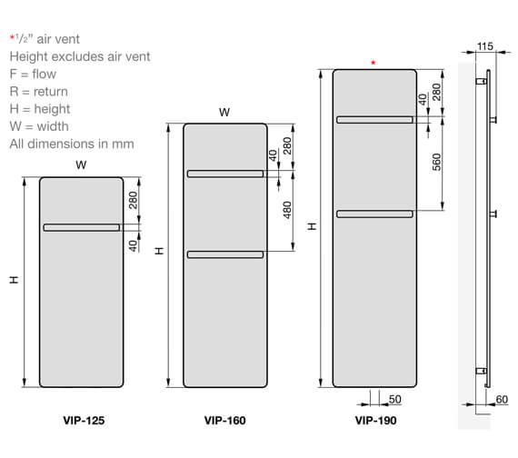 Technical drawing QS-V102667 / VIP-125-040