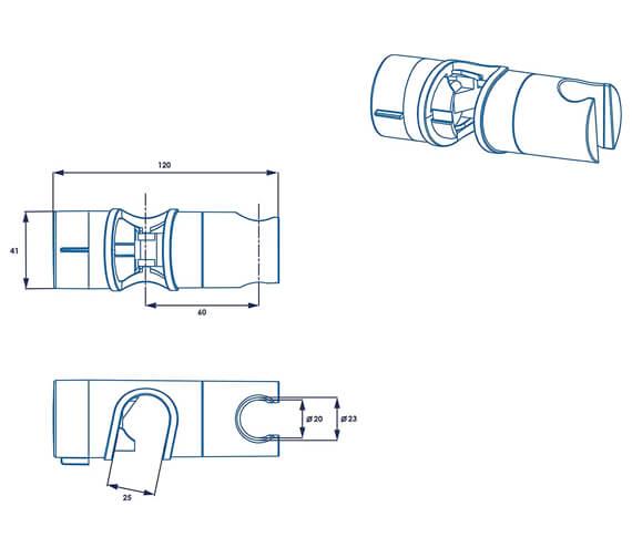 Alternate image of Croydex Universal Riser Rail Slider
