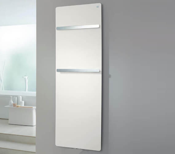 Zehnder Vitalo Bar White Electric Immersion Radiator With Radio Frequency Remote Programmer