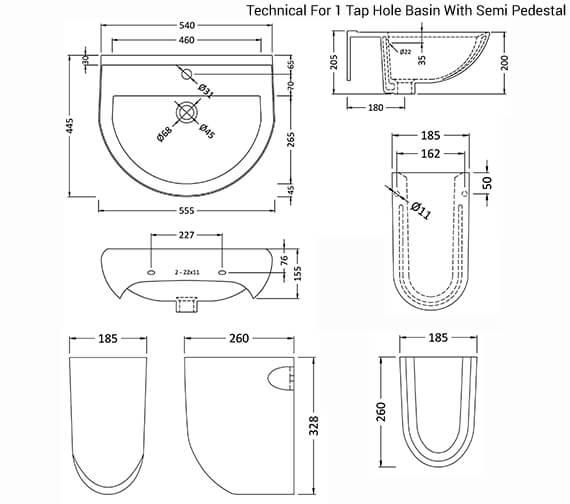 Technical drawing QS-V26413 / CIV004