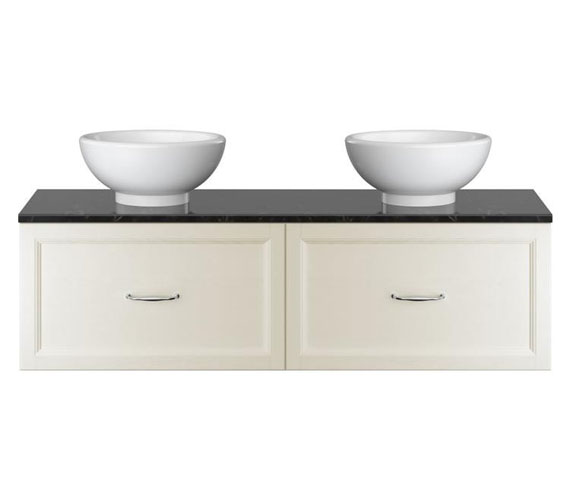 Additional image of Heritage Caversham Double Wall Hung Vanity Unit With Basin