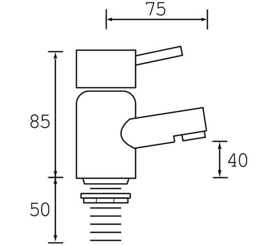 Technical drawing QS-V6408 / PM 1/2 C