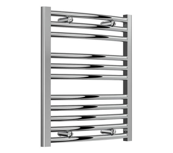 Reina Diva 450mm Wide Chrome Curved Towel Rail - AG45800CC