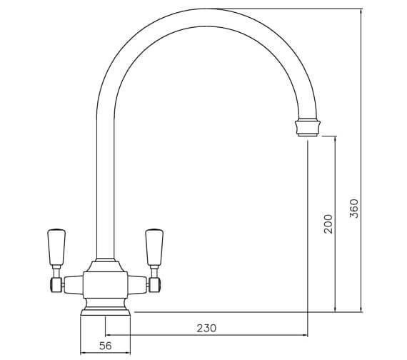 Technical drawing QS-V42167 / AT1150