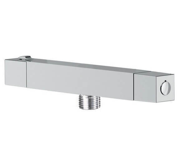 Methven Thermostatic Chrome Cool To Touch Square Bar Shower Valve