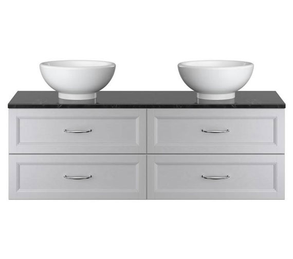 Heritage Caversham Double Wall Hung 2 Drawer Vanity Unit With Basin